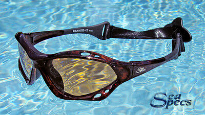 SeaSpecs Polarized Tortuga Water Sport Sunglasses FREE CASE!