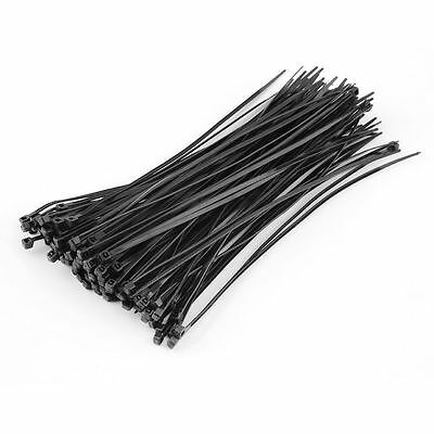 "100pcs 8"" 3 x 200mm Nylon Plastic Cable Ties Zip Fasten Wire Wrap Strap SM"