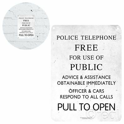 New Doctor Who Pull To Open TARDIS Metal Sign 21 x 15cm Tin Plaque BBC Official