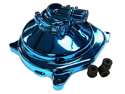 Blue chrome effect water pump unit suitable for Yamaha Aerox 50cc, MBK Nitro