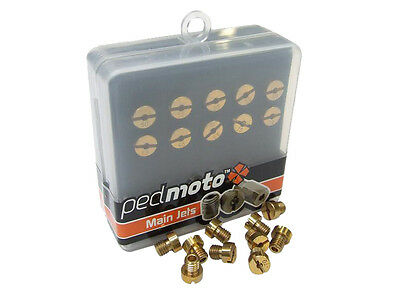 Pack of 10 Dellorto Type Carburettor 5mm Main Jets, 125 to 147