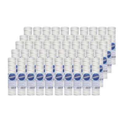 "50pk 20 Micron Wound Sediment Water Filter 10"" ideal for Reverse Osmosis"