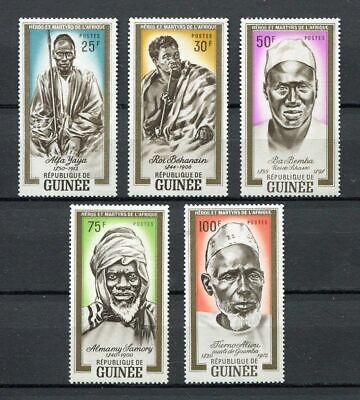27202) GUINEA 1962 MNH** Nuovi** Heroes and martyrs of Africa 5v