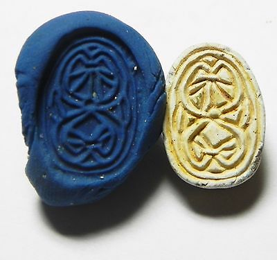 Zurqieh -Af644- Ancient Egypt ,2Nd Intermediate Stone Scarab. 1782 - 1570 B.c