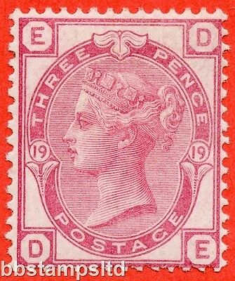 "SG. 143. J43. "" DE "". 3d rose plate 19. An average mounted mint example."