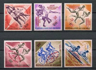 27210) GUINEA 1963 MNH** Nuovi** Olympic Games Red overprint