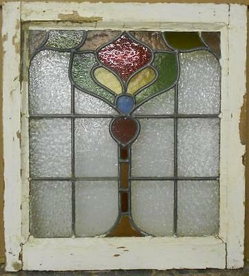 """OLD ENGLISH LEADED STAINED GLASS WINDOW Stunning Abstract 19.5"""" x 21.5"""""""