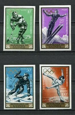 27216) GUINEA 1964 MNH** Nuovi** 9th Winter Olympic Games 4v Imperforated