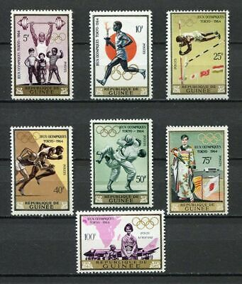 27221) GUINEA 1964 MNH** Nuovi** 18th Olympic Games, Tokyo 7v