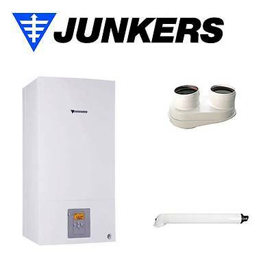 Boiler A Condensation Junkers Cerapur Compact Zwb 24-1 D And+Kit Exhaust System