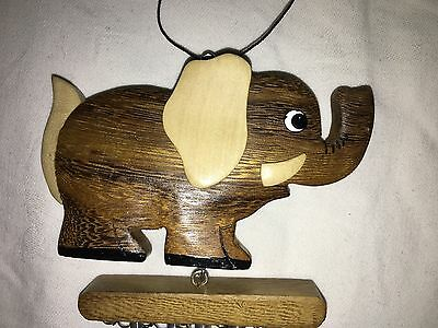 New Windchime Metal Wind Chime With Wooden Elephant Nm312 M