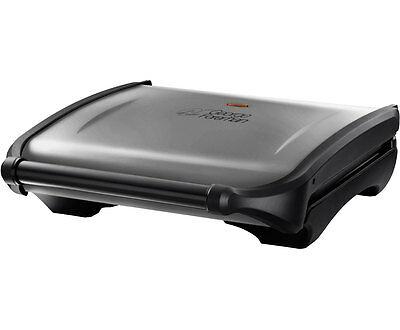 George Foreman 19932 Entertaining 7 Portion Health Grill Silver New from AO