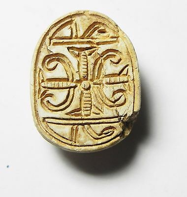 Zurqieh -Af669- Ancient Egypt ,2Nd Intermediate Stone Scarab. 1782 - 1570 B.c