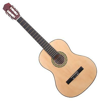 4/4 Size Left Handed Classical Acoustic Concert Guitar 6 Nylon Strings Basswood