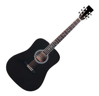 Dreadnought Acoustic Guitar Steel Strings Guitar Beginner Guitar Black Full-Size