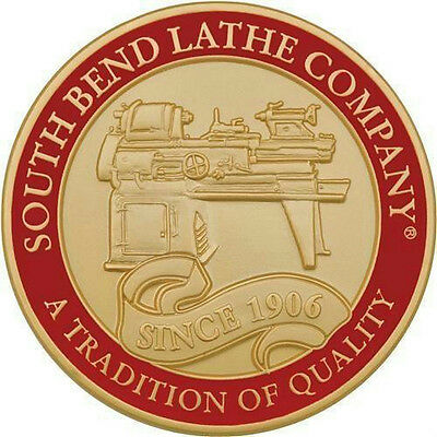 """South Bend Lathe Company 2"""" Collectible Brass Coin 2-Sided Keepsake SB1467 New"""