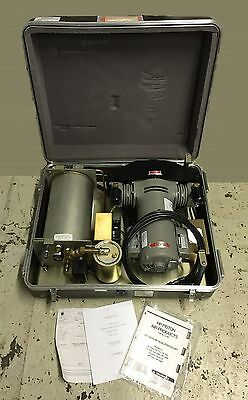 Us Military 1.5 Hp Portable Dental Medical Quiet Compressor Air Drier Piston Nos