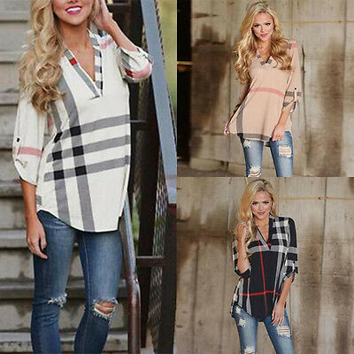 Lady Women's Shirt New Blouse Casual Blouse Tops Fashion Long Sleeve Loose Shirt