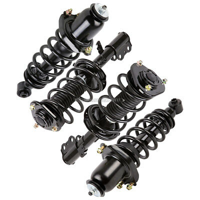 Complete Set New Front & Rear Left & Right Strut Shock Coil Spring Assembly