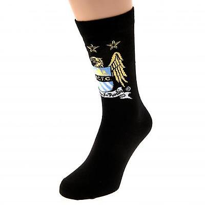 Manchester City F.C. Socks 1 Pack Junior -Size Choice- OFFICIAL LICENSED PRODUCT