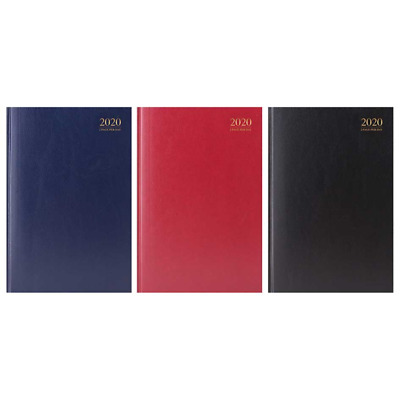 A4 & A5 Day Per Page / Week To View Hard Back Desk Calendar Year Diary 2017-Jms