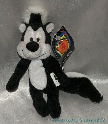 NEW HTF 1999 WARNER BROS STUDIO STORE LOONEY TUNES Mini Plush Beanie PEPE LE PEW