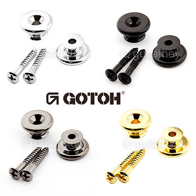 Gotoh EP-B3 Strap Buttons for Guitar/Bass Oversized CHROME, GOLD, BLACK or COSMO