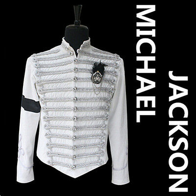 Michael Jackson World Tour History Jackets White Velvet Canonicals Jackets