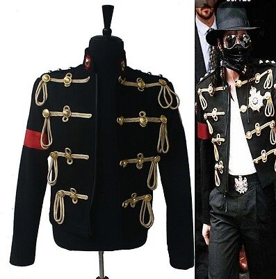 Michael Jackson Costumes Royal Military Woolen Jackets For Stage Show Cosplay