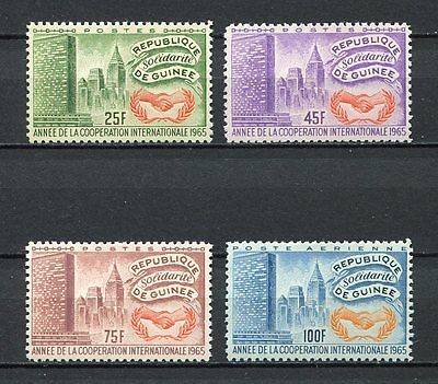 27229) GUINEA 1965 MNH** Nuovi**  Intl. Cooperation Year 4v