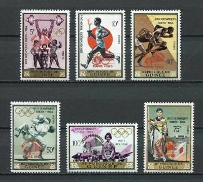 27235) GUINEA 1966 MNH** Nuovi** Ovptd 4th Pan Arab games Caire 6v