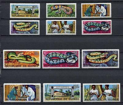 27246) GUINEA 1967 MNH** Nuovi** Institute for Applied Biology snakes
