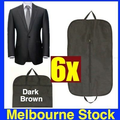 6 x BLACK SUIT COVER BAGS Jacket Garment Storage Coat Protector Clothes Covers