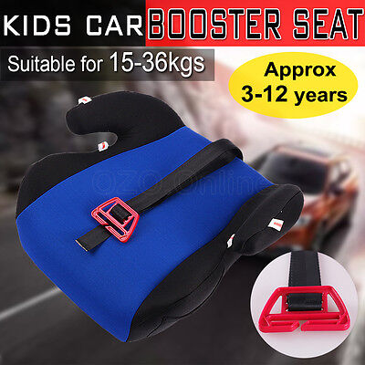 Kids Car Booster Seat Safe Sturdy Baby Children Child Fit 3 To 12 Years Blue NEW