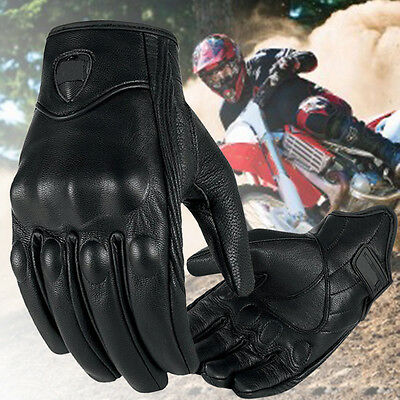 Sports Winter Leather Warm Gloves Motorcycle Sports Riding Cycling Full Finger