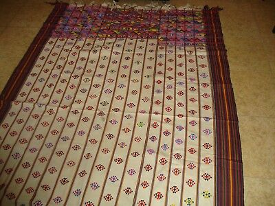 Bhutan textile Kira cotton mid 20th century very nice condition handwoven