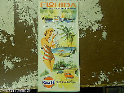 VINTAGE MAP - 1964 - Florida Tourguida Vacation Map