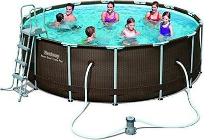 NEW Bestway 14 ft Rattan Frame Pool Set