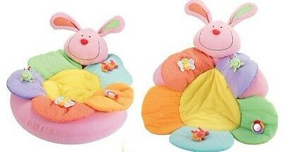 Baby Inflatable Seat Baby Rabbit Play Mat Game Pad Blossom Farm Sit Me Up Cosy