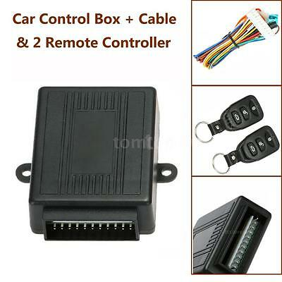 Car Door Lock Keyless Entry Control BoxTrunk Release + 2 Remote Controllers S8C4