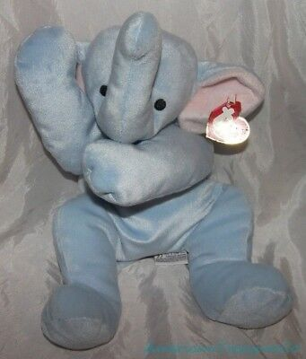NEW 2002 TY PILLOW PALS Baby Plush Floppy SQUIRT The ELEPHANT Lovey Sewn Eyes