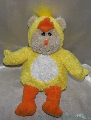 "2003 STARBUCKS Plush 10"" 25th Ed FLUFFY DUCK or CHICK BEARISTA BEAR Easter"