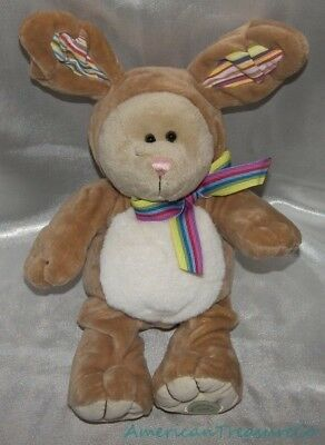 "2008 STARBUCKS Plush 10"" 75th ED Golden Brown EASTER BUNNY BEARISTA BEAR Rabbit"