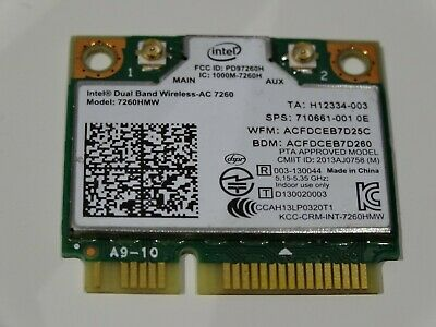 Intel 7260AC 802.11AC AC BT 4.0 DUAL BAND WiFi WLAN Wireless Card 7260HMW -W041