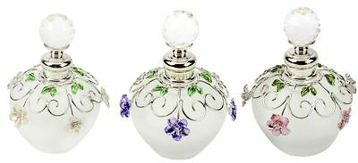 Sophia Frosted Glass Flower Perfume Scent Bottle