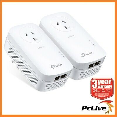 NEW TP-Link TL-PA9020P KIT Gigabit Passthrough Powerline Adapter 2000Mbps AV2000
