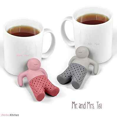 iNeibo Kitchen Mr. And Ms. Tea Infuser - Super Cute Silicone Loose Leaf Herbal T