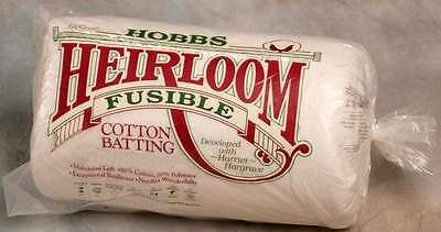 Hobbs Double Sided Fusible Cotton Batting 2.4 metres wide per metre