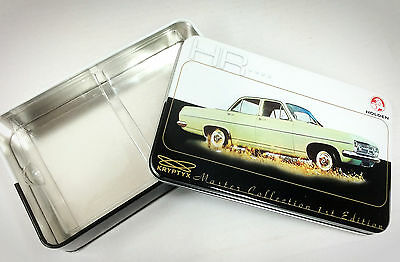 HOLDEN Master Collection Empty Metal Tin HR--( Nice 110 card storage box)