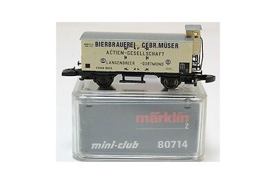 Z 1:220 Märklin 80714 vagon mercancia freight car bierbrauerei Mini club